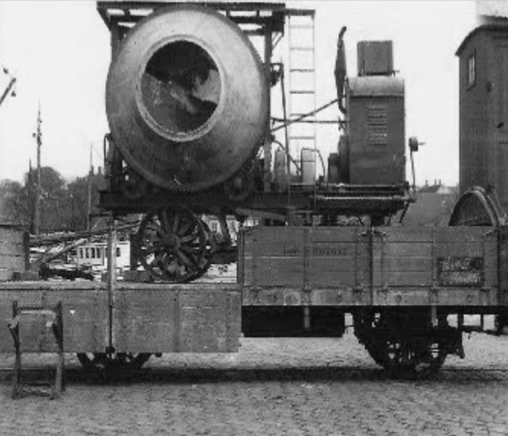 Baumaterial für die Batteriestellung bei Dueodde wird mit der DBJ transportiert
